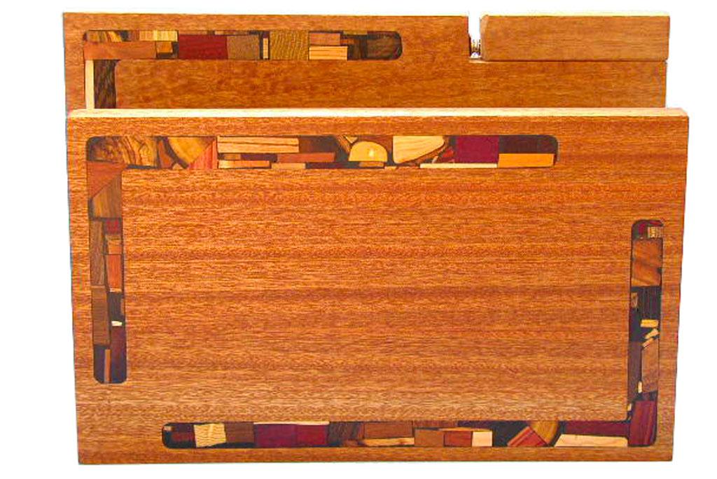 Shabbat Mosaic Challah Cutting Board w/ Mosaics & Knife - Jewish Wedding Gift - Reg & XL size-Popular-Wedding-Gift-CUT-KM-2sizes-Sap