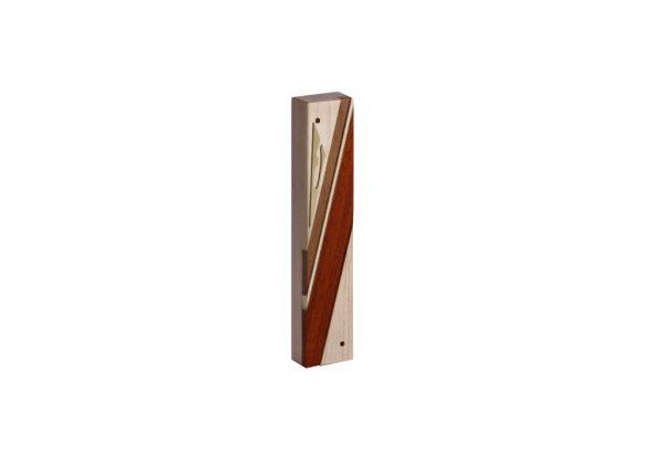 #1-Designer Reversi Wood Mezuzah Case-Jewish Housewarming Gift - Maple - Sapelli - Paduak - Brass