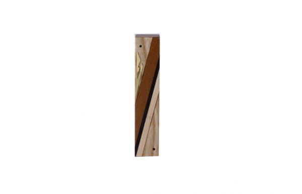 #2 - Designer Reversi Wooden Mezuzah Case - Small Modern Jewish Housewarming Gift - Ash - Sapelli - Maple - Ebony - Brass