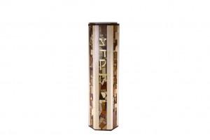 XL Hexagonal Tzedakah Box - Maple - Oversized Wooden Tzedakah Box - Jewish Gift