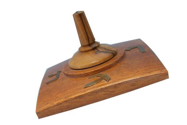 Wooden Dreidels - Large Wooden Dreidel - Hanukkah Toy - Jewish Gift - DRE-F-O-O-RW-ryfirst01451.jpg