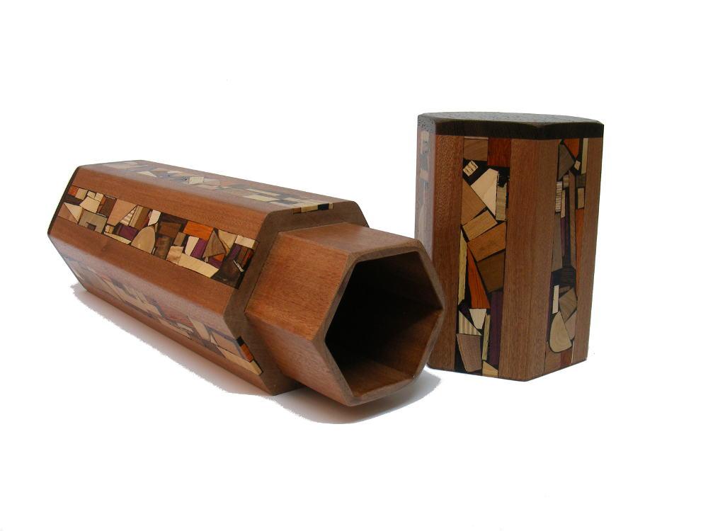 Megillah Case-Wood and Mosaics-Megillat Esther