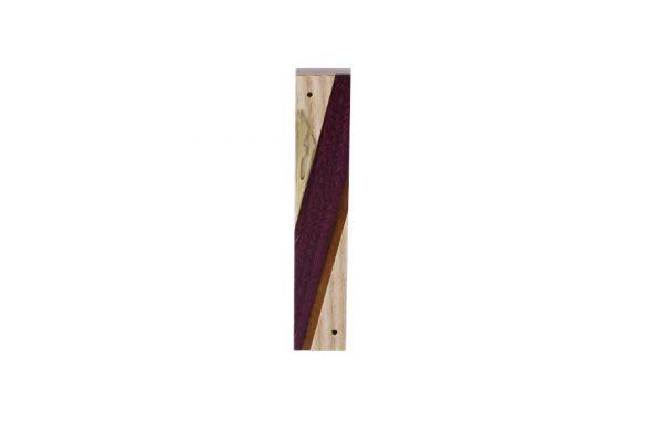 #4 - Mezuzah - Designer Reversi Wood Mezuzah Case-Jewish Housewarming Gift - Ash - Sapelli - Purpleheart - Brass