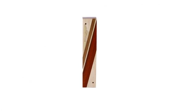 #1-Designer Reversi Wood Mezuzah Case-Jewish Housewarming Gift - Maple - Sapelli - Paduak - Brass - Another view
