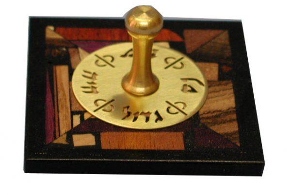 Mosaic Dreidels - Small Ebony Dreidle - Hanukkah Collectors Dreidel -- DRE-BM-S-O-W_-1010051.jpg