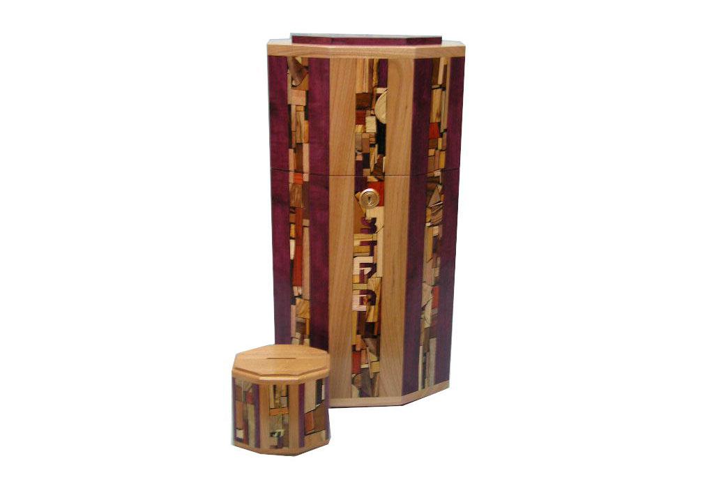 Synagogue Sized Tzedakah Box for Synagogues & Institutions - Wooden Tzedakah Box