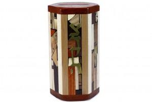 Hexagonal Tzedakah Box - Jewish Gift - Wooden Tzedakah Box - Maple/Cherry/Paduak