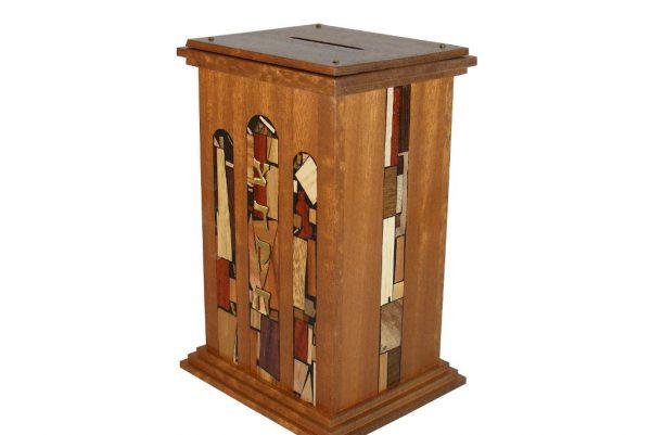 Court House Tzedakah Box - Jewish Gift - Housewarming Gift - Wooden Tzedakah Box