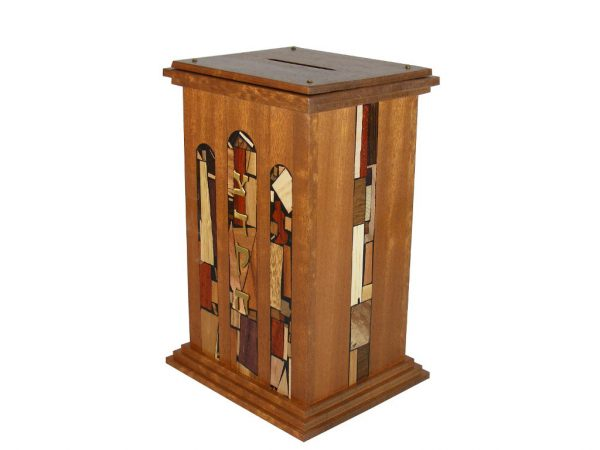Court House Tzedakah Box - Jewish Gift - Housewarming Gift - Wooden Tzedakah Box