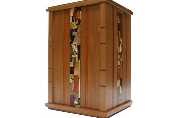 Wooden Wall Mounted Synagogue Sized Tzedakah Box-Synagogue Judaica-Paduak Accents