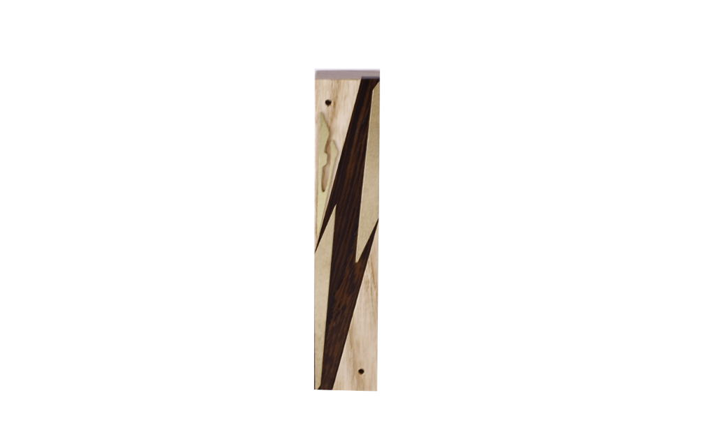 #10-Wooden Mezuzah - Designer Metal & Wood Mezuzah - Judaica Gift - Jewish Housewarming Gift - Maple/Ebony/Brass