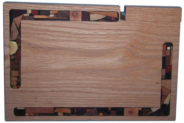 Solid Wood Mosaic Challah Cutting Board w/ Knife - Oak Wood - CUT-KM-O-Oak-W-chamk-retake.jpg