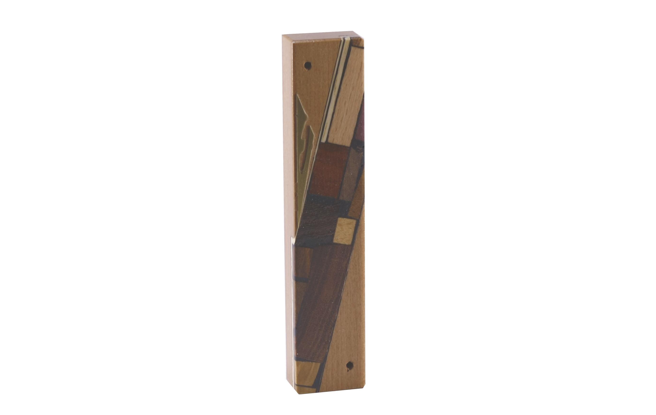 Wooden Mezuzah-Reversi Mosaics-Judaica Gift