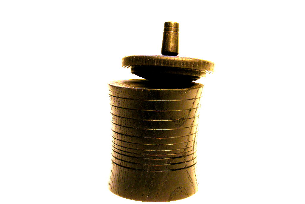 Black Spinning Top Box #6 - 2 in 1 Chanukah Box - Dreidle Box - Small Wooden Box - BOX-052-O-ash