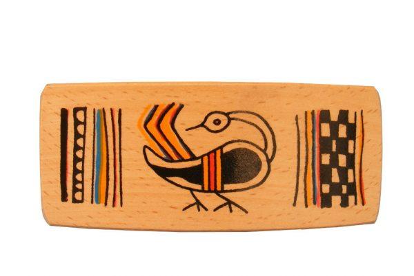 Bird Archaeology Barrette - Ancient Ties Series-Wooden Barrette