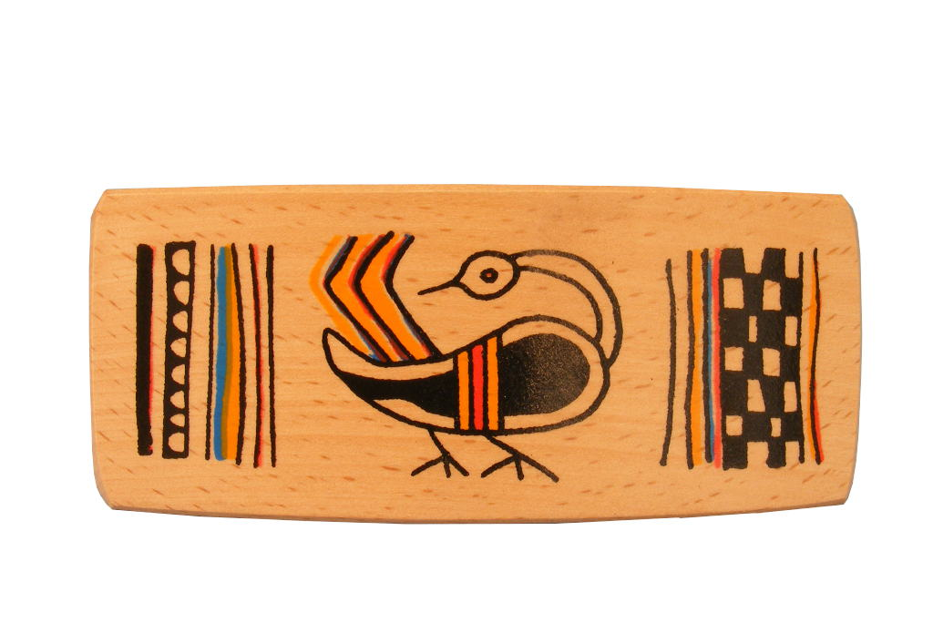 Bird Archaeology Barrette - Ancient Ties Series-Wooden Barrette