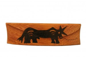 Bull - Ancient Ties Series- Biblical Barrette- Wooden Barrette