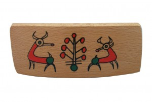 Rams Archaeology Barrette- Wooden Bibilcal Barrette-BAR-Rams-O-Beech