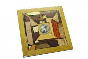 Collectible Dreidel -Wood Mosaics and Silver- Hanukkah Dreidel-DRE-MS-O-O-RW-silver-wood-draidel2.jpg