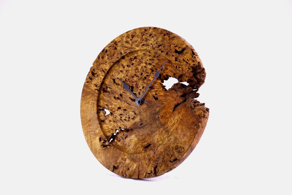 Decorative-Wall-Clock-Rustic-Oak-Root-Clock-CLOCK-