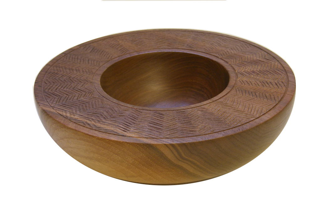 Half Round Bowl Carved Wooden Decorative Home