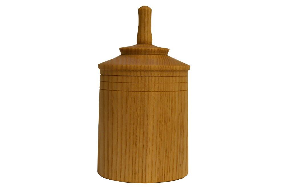 Spinning Top Box 3 - Hanukah Bo x -Spinning Top Box - Small Wood Box - BOX-STB3-O-ash