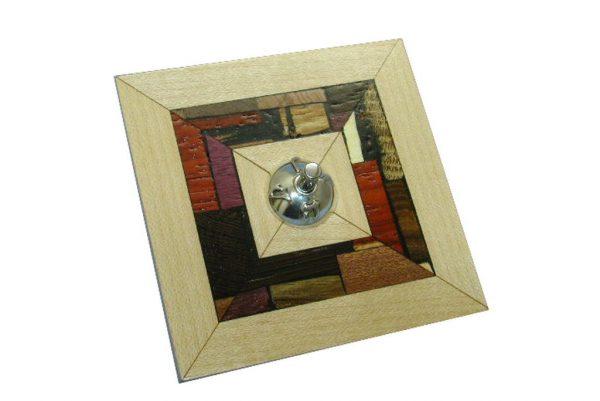 Clooectible Dreidel - Hanukah-Dreidel-Wood-Mosaics-and-Silver- Jewish Gift - DRE-MS-O-O-RWP-silver-wood-dreidel4.jpg