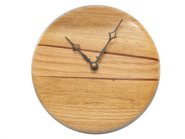 Modern Wood Wall Clock 2- Contemporary Kitchen Clock - Housewarming Gift - CLOCK-P1-O0multi2