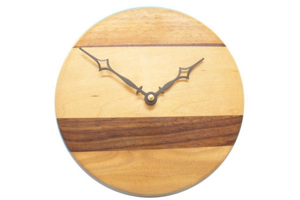 Multi Woods Wall Clock-Modern Wood Wall Clock-CLOCK-Modern-O-O