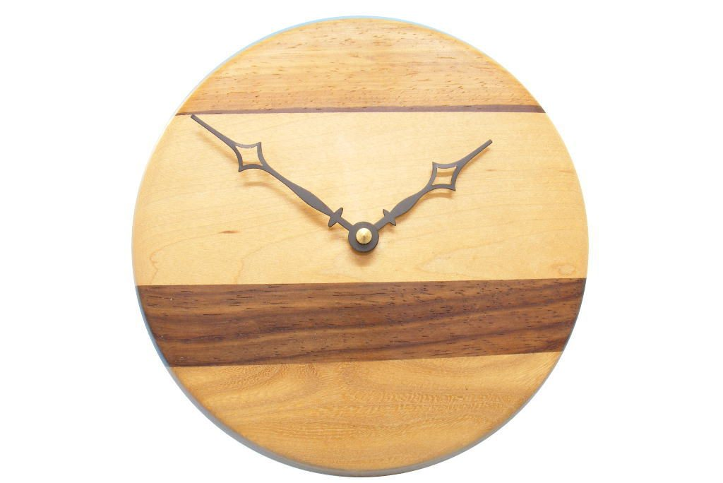 Multi Woods Wall Clock Modern Wood O