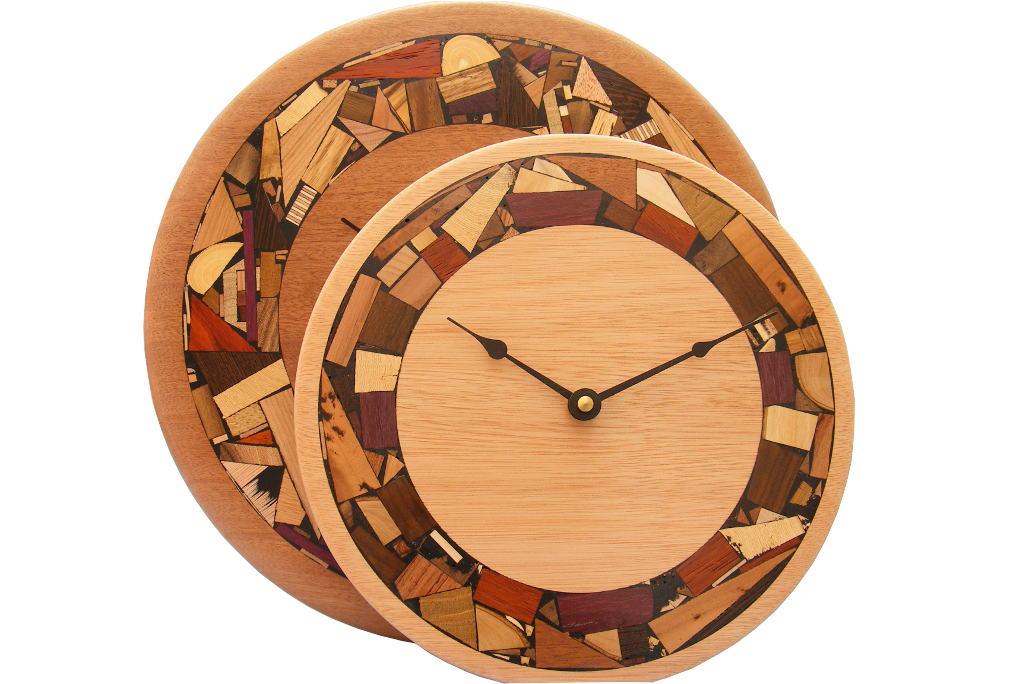 Modern Mosaic Clock Mosaic Rimmed ClockWooden Wall Clock