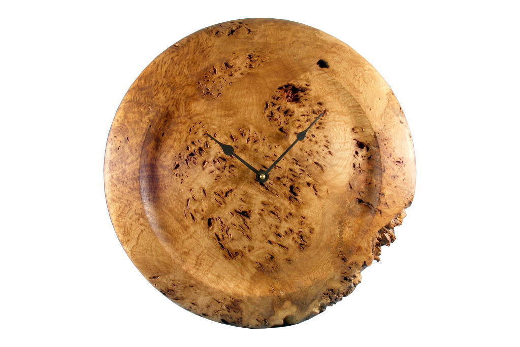 Oak Root Clock 1 - Rustic Kitchen Wall Clock - Organic Home Decor - CLOCK-OakRoot1-O-Oak