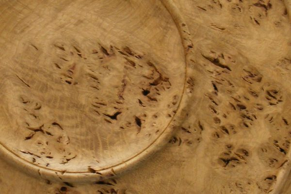 Oak Root Platter-One of a Kind Wooden Serving Tray-Detail