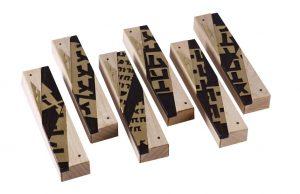 Designer Metal & Wood Mezuzah - Modern Wood Mezuzah Case - Assorted Mezuzah Cases-MEZ-DRB-Sm-O