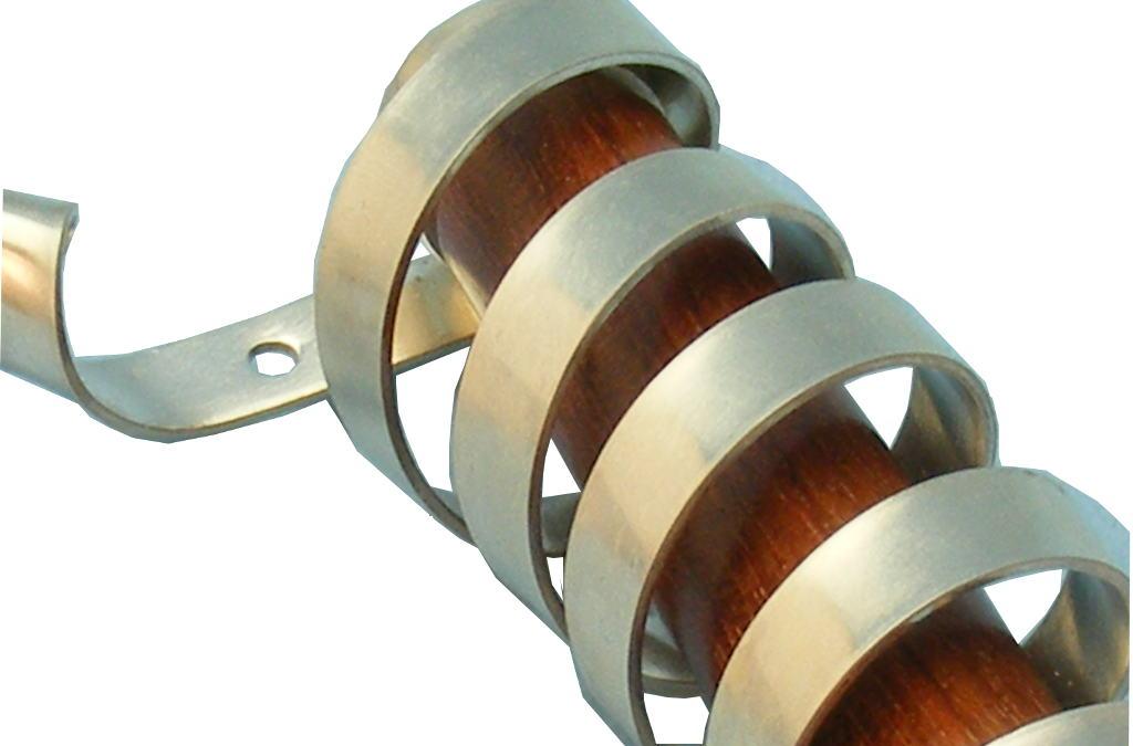 Silver Spiral Mezuzah Case-Modern Judaica-Wood & Silver Mezuzah-Blood Wood-Detail-MEZ-SSP-