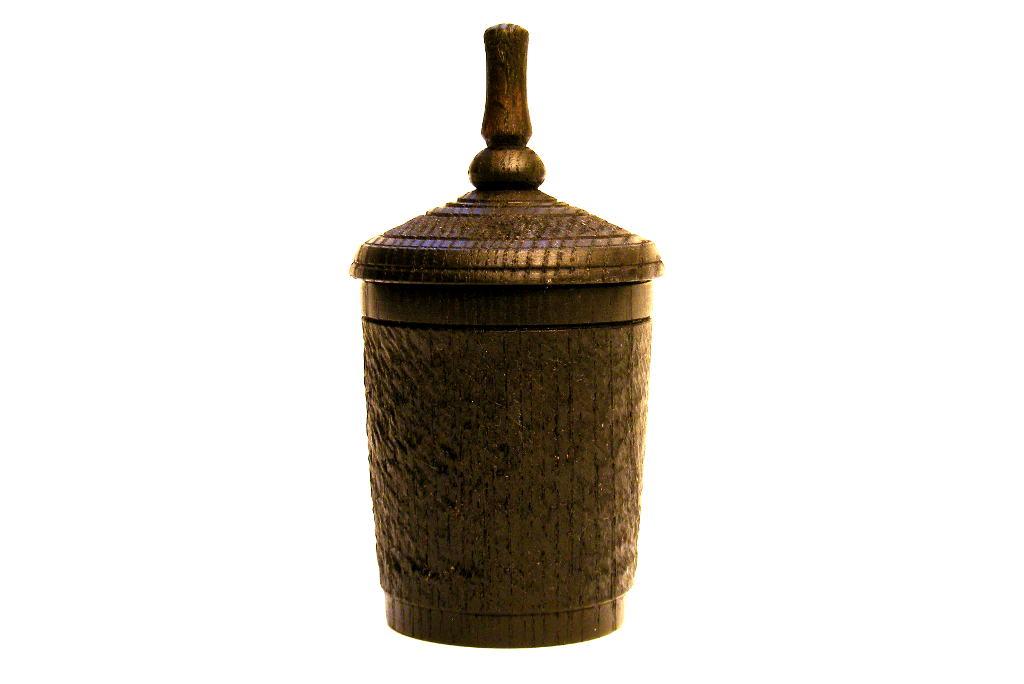 Black Spinning Top Box #5 - Small Wood Box - Hanukkah Box - BOX-051-O-ash