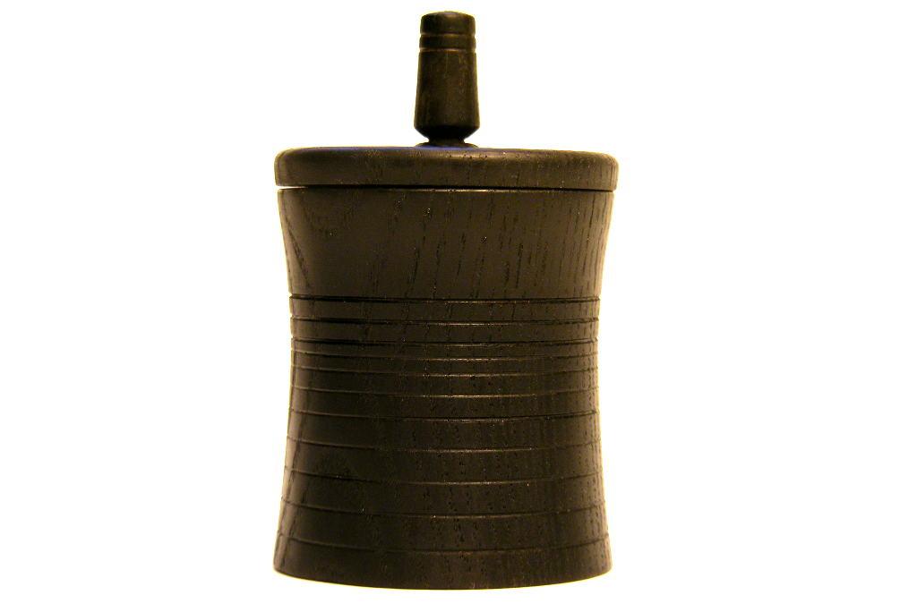 Black Spinning Top Box 6 - Small Wooden Box w/ Dreidle Top - 2 in 1 Hanukkah Box - BOX-052-O-PL