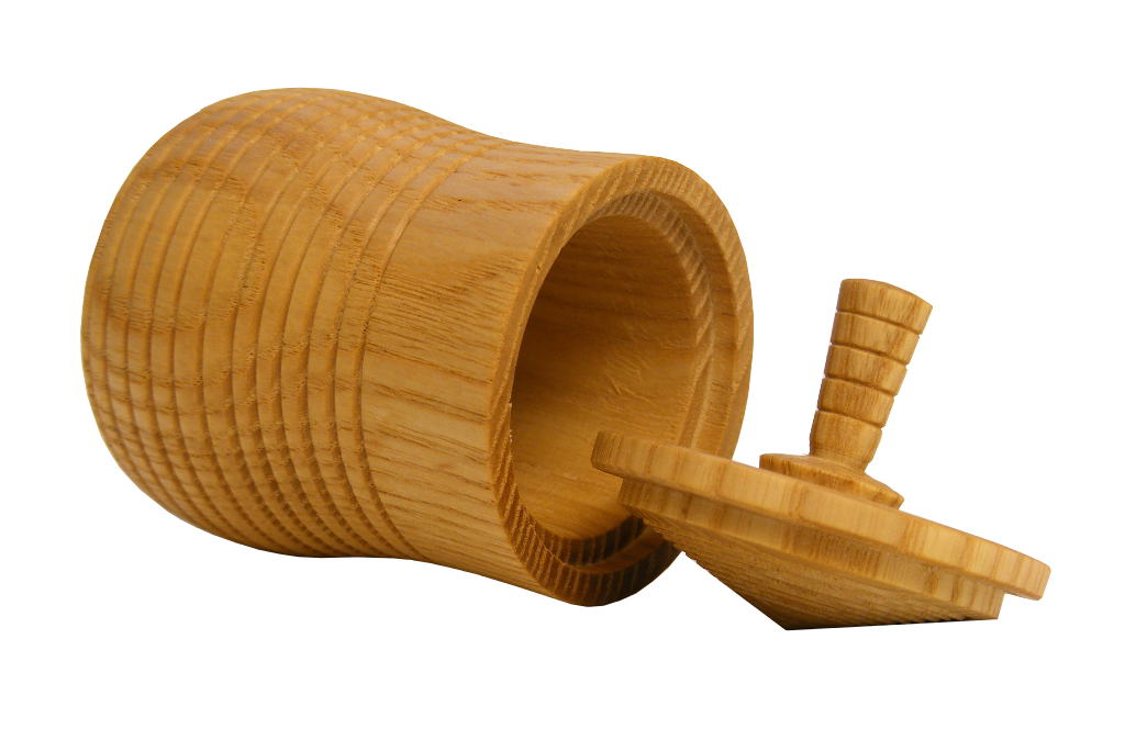 Spinning Top Box 4-Wooden Box-Educational Toy - BOX-050-O-ash