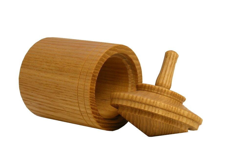 Spinning Top Box 3 - Spinning Top Box - Chanukah Box - Wooden Box - Open - BOX-STB3-O-ash