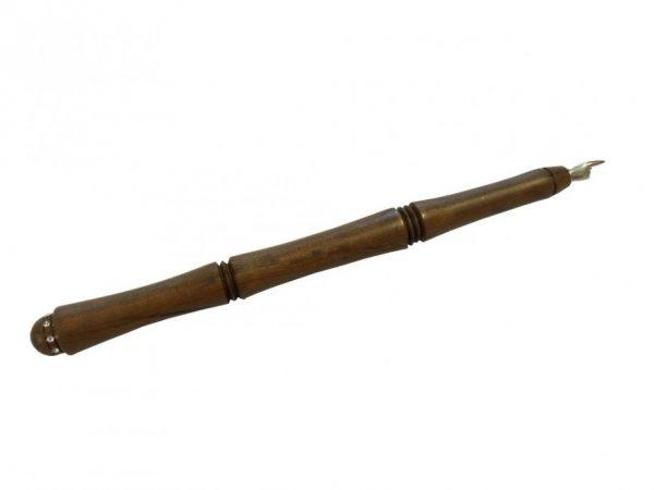 Wooden Torah Pointer - Wood and Silver - Swarovski Inlay - Imbuya Wood -TOR-WSS-L-Imbuya