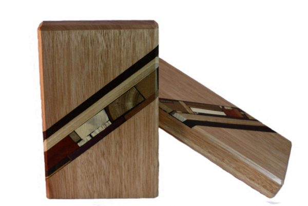 Wood Bookends- Wooden Mosaic Decoration