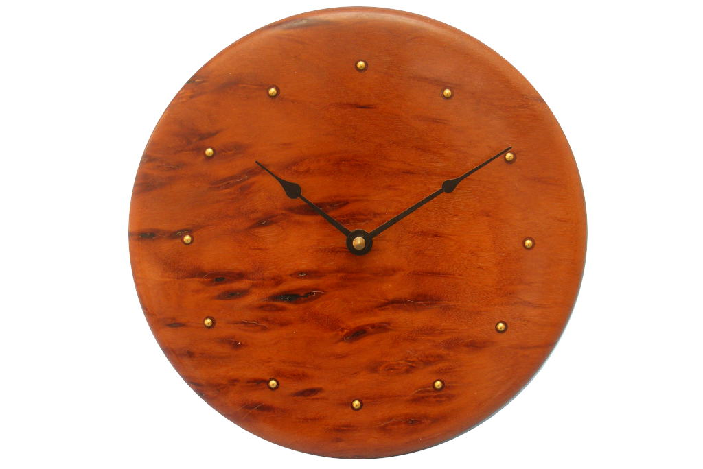 Solid Wood Contemporary Wall Clock   Wood Wall Clock   Kitchen Wall Clock  CLOCK