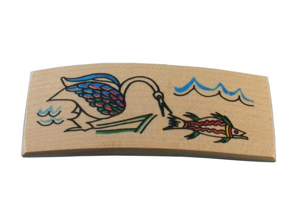 Bird & Fish Wooden Archaeology Barrette | Etz-Ron