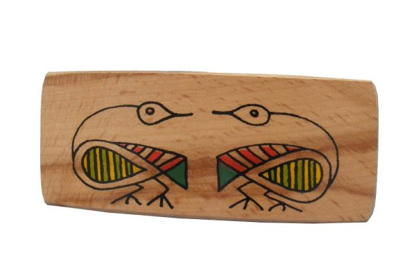 Back 2 Back wood Archaeoplogy Barrette| Etz-Ron