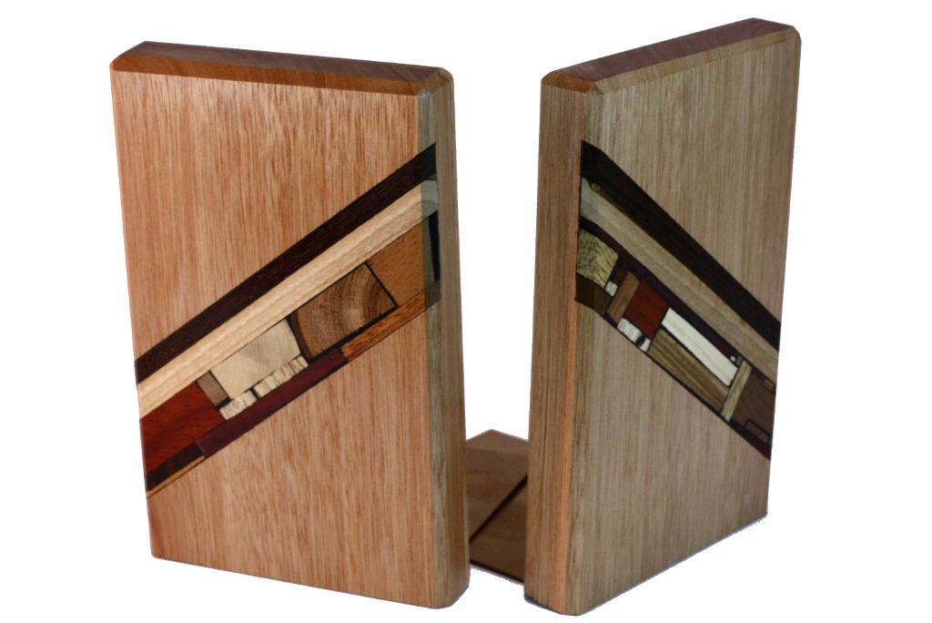 Wooden-Bookends-Wood-Mosaic-Decoration-Bkends-M-RW-