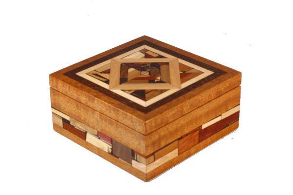 Mosaic Jewelry Box - Wooden Box - Memory Box - Medium