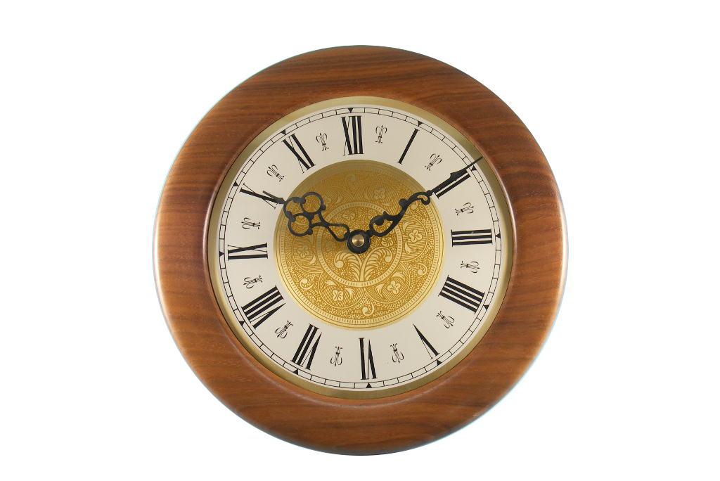 Wooden Wall Clock Gold Inside Gi O