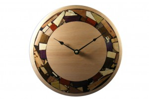 Modern Mosaic Clock - Wooden-Wall Clock- All Natural Wood
