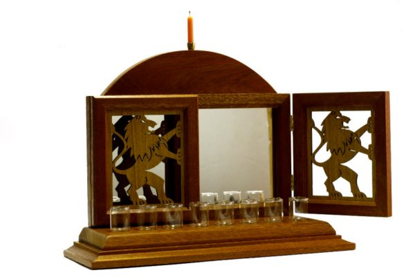 Open-Hanukkah Menorah-Lion Menorah-Bar Mitzvah Gift-MEN-L-O-O-RWL-MG_3838