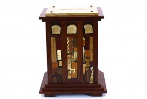 Courthouse Tzedakah Box - Judaica Gift - WoodenTzedakah Box